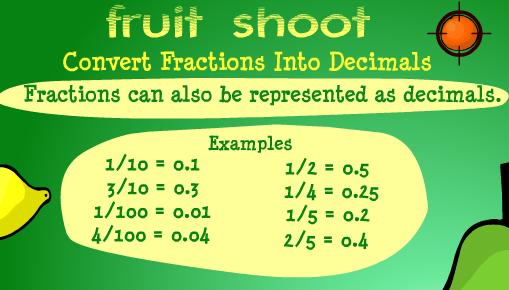 Fractions to decimals